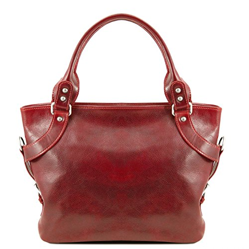 Tuscany Leather - Ilenia - Red Leather Shoulder Bag For Women - Tl140899 / 4 Red
