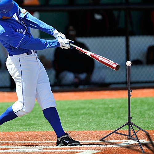 Goplus Batting Tee Baseball Softball Tripod Adjustable
