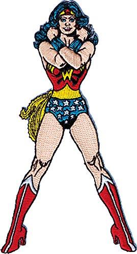 Wonder Woman DC Comics Cartoon Iron On Patch - Sexy Hero Lady Standing - Patches Wonder Woman