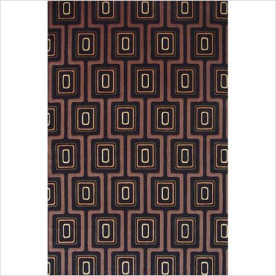 KAS City Grid Rug, Black, 2' x 3' ()