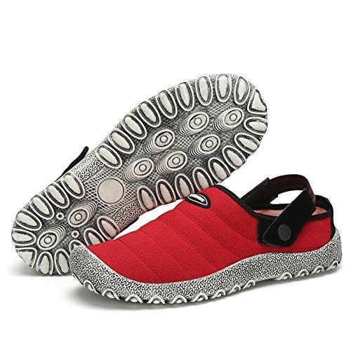 Scarpe Casual Scarpe Leaproo Primavera Tela Donna Pantofole in Uomo Rosso Antiscivolo da Barca Traspiranti 8aqxq4w