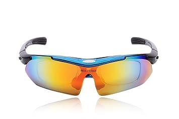 Eleoption Erwachsene Sonnenbrille Skibrille Schutzbrille Goggles für Sport Radfahren MTB Bergsteigen Schwarz 2jl7MKl