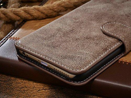 Handy Schutz Tasche Geldbeutel Hülle Flip Case Etui Wallet Sony Xperia Z5 Braun