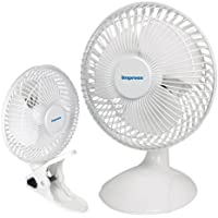 Impress IM-706DP 6-Inch 2-in-1 Desk/Clip-On Fan