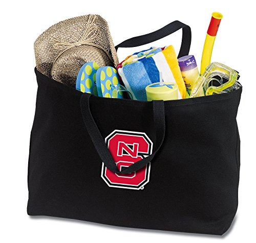 Broad Bay JUMBO NC State Wolfpack Tote Bag or Large Canvas NC State Shopping Bag by Broad Bay
