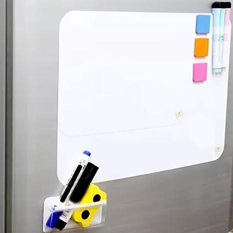 Pizarra magnética para nevera de cocina, imán de notas para notas de la lista de la compra