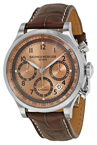 Baume-Mercier-Mens-BMMOA10045-Capeland-Analog-Display-Mechanical-Hand-Wind-Brown-Watch