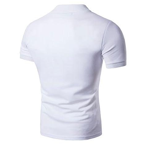 ZhiYuanAN Homme Poloshirt De Stitching À Manches Courtes Col Chemise Polo Classique De Sport Casual Golf Shirt Rouge M 2MJWh