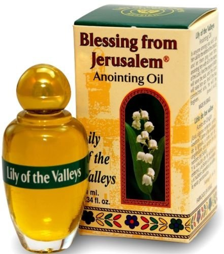 Lily of the valleys - Blessing from Jerusalem Anointing oil - 10ml ( .34 fl. oz. ) by Bethlehem Gifts TM (Lily Of The Valley Essential Oil Fragrance)