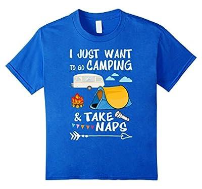 Camper T-Shirt Funny Camping & Take Naps Tee Shirt Gift