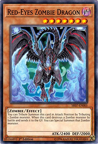 Yu-Gi-Oh! - Red-Eyes Zombie Dragon - SR07-EN005 - Common - 1st Edition - Structure Deck: Zombie Horde