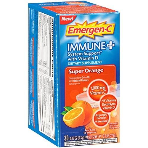 Emergen-C Immune+, Super Orange, 30 ea