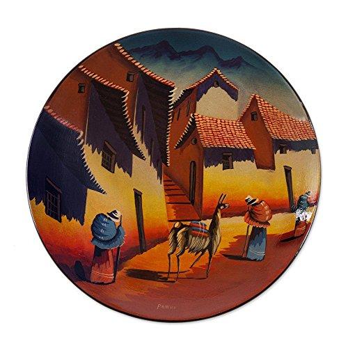 NOVICA Decorative Ceramic Cuzco Bowl and Plate, Multicolor, Andean - Plate Cuzco