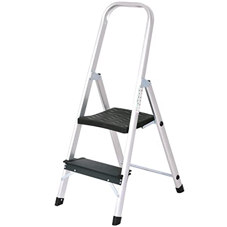 Peachy Giantex Aluminum 2 Step Ladder Folding Stepladder With Non Slip Pedal 330Lbs Capacity Work Platform Portable Step Stool Caraccident5 Cool Chair Designs And Ideas Caraccident5Info