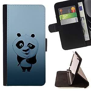 Momo Phone Case / Flip Funda de Cuero Case Cover - Ejemplo lindo PANDA BEAR - Samsung Galaxy Note 5 5th N9200