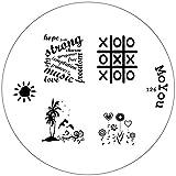 Original MoYou Nail Art Image Stamp Plate Number 126 Manicure Design