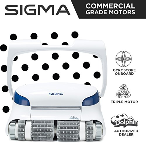 Dolphin Sigma Robotic Pool Cleaner with Gyro & Triple - Vacuum Robot Parts Pool