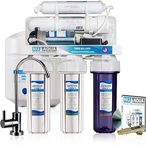 NU Aqua Platinum Series 100GPD Under Sink Reverse Osmosis Drinking Water Filtration System - Premium Water Filter (5 Stage With ()