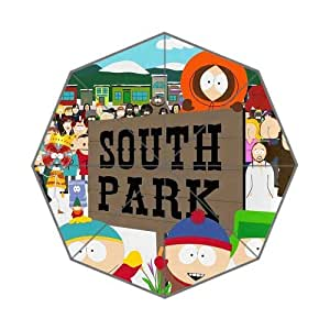 Hot Cartoon TV Play&South Park Background Triple Folding Umbrella!43.5 inch Wide!Perfect as Gift!