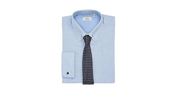 next Hombre Conjunto De Camisa Ajustada Cuello Alfiler Y Corbata Corte Slim 18R: Amazon.es: Ropa y accesorios