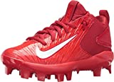 Nike Kids' Force Trout 3 Pro Mid Baseball Cleats (Red/White, 1.5)