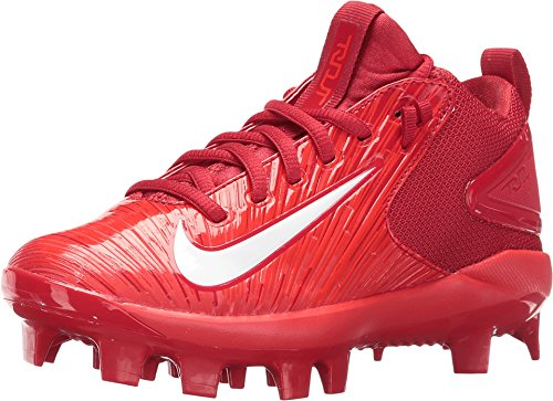 (Nike Kids Trout 3 Pro BG Cleated Baseball Varsity Red/Light Crimson/White Shoes Size 5.5)
