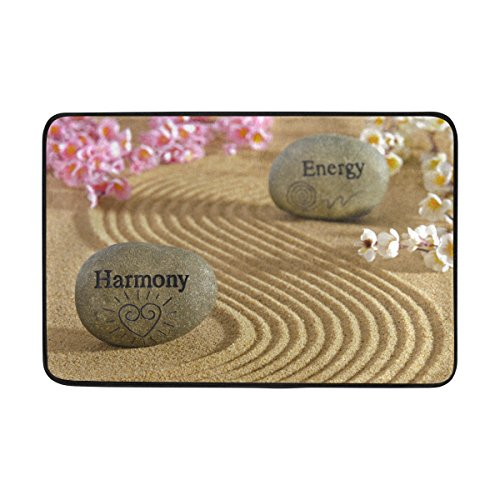 Blue Viper Energy Harmony Stones The Sand Non Slip Doormat For Home Living Room Bathroom Kitchen Outdoor Outside Indoor Entrance Way Front Door 23 6 X 15 7 Inches