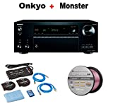 Onkyo THX-Certified Audio & Video Component Receiver black (TX-NR777) + Monster Home Theater Accessory Bundle + Monster - Platinum XP 50' Compact Speaker Cable Bundle