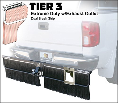 Towtector Tier 3 Mud Flap 29616-T3EO Extreme Duty Dual Brush Strip with Exhaust Outlet - 96