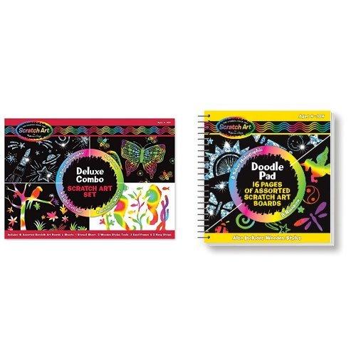 Melissa & Doug Combo Scratch Art Set & Doodle Pad Bundle (Doug & Doodle Melissa Pad)