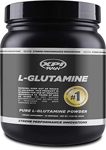 XPI RAW L-Glutamine Powder 500 Grams – Non-GMO, Gluten Free Powder