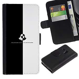 EJOY---Tirón de la caja Cartera de cuero con ranuras para tarjetas / Samsung Galaxy S3 MINI 8190 / --Valar Morghulis Valar Dohaeris