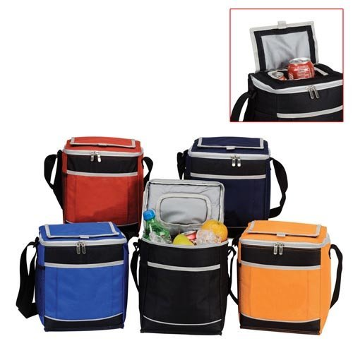 [12-PACK LUNCH INSULATED COOLER - (BLACK)] (6
