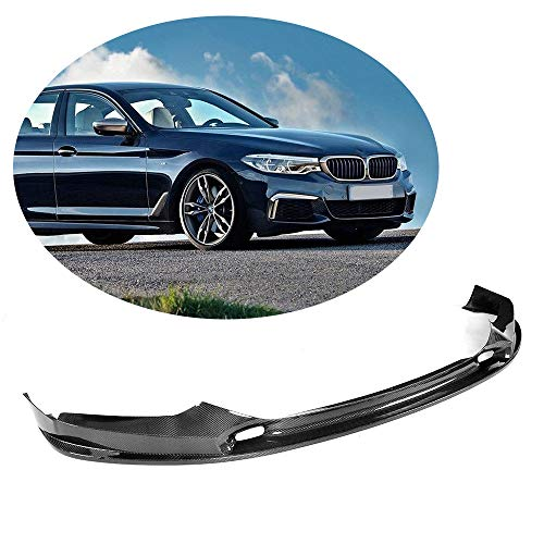 MCARCAR KIT Front Bumper Lip fits BMW 5 Series G30 G31 G38 M-SPORT | Add-on Pure Carbon Fiber Chin Spoiler Protector | 2017 2018 2019, 3D Look