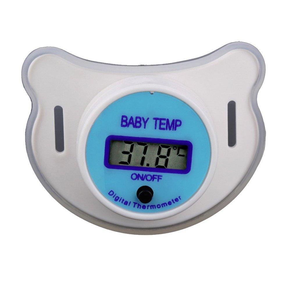 YSCYLY Termómetro Portátil Digital del Pacificador del LCD Termómetro Suave Seguro De La Boca del Pezón del Bebé (1Pcs, Azul): Amazon.es: Hogar