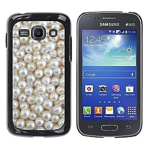 Paccase / SLIM PC / Aliminium Casa Carcasa Funda Case Cover para - White Rich Pearl Jewel Gem - Samsung Galaxy Ace 3 GT-S7270 GT-S7275 GT-S7272