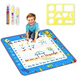 Sunarrive Large Water Doodle Mat / Magic Water Drawing Mat / Aqua Doodle Mat for Boys Girls Kids Toddlers Age 1 2 3 4 5 6 Year Olds, 34 X 31, with Drawing Mold and 3 Pens