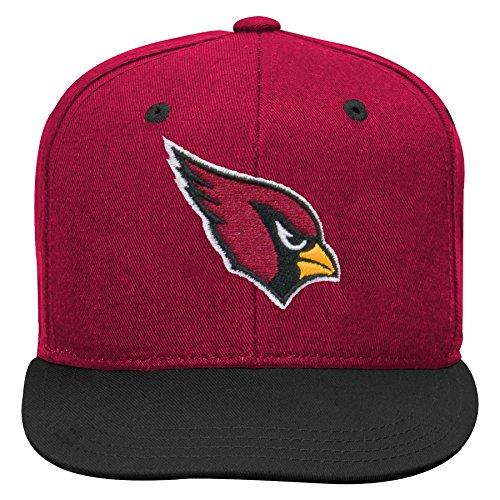 NFL by Outerstuff NFL Arizona Cardinals Kids 2-Tone Flat Visor Snapback Hat Cardinal, Kids One Size