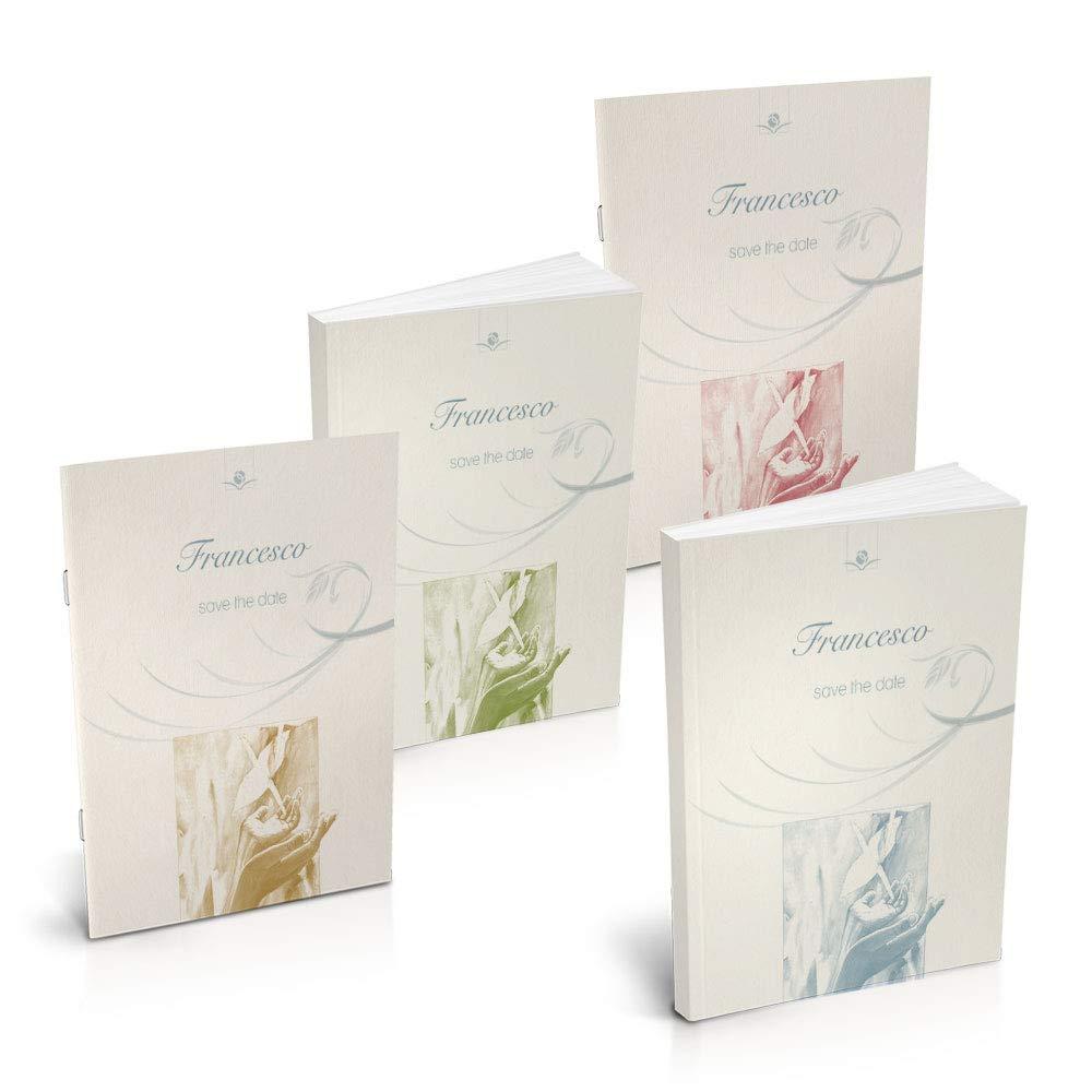 Bombolibro  Spiritualità , Libro Bomboniera Personalizzabile per Comunione, confezione da 10 unità