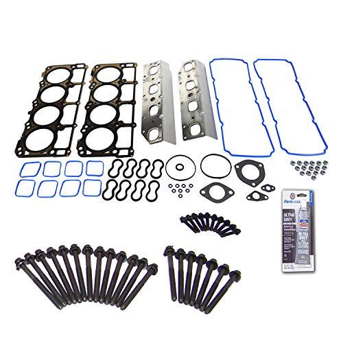 (Head Gasket Set Bolt Kit Fits: 09-15 Chrysler Charger 5.7L V8 OHV 16 HEMI cu.345)