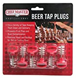 Chef-Master 90216 Beer Tap Plugs, Red