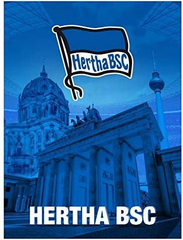 Hertha BSC Fleecedecke Logo Navy 150 x 200cm