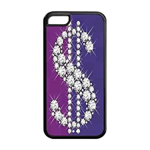 Diamond Crystal Design Solid Rubber Customized Cover Case for iPhone 5c 5c-linda54