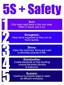 5s lean poster purple office products for 5s office design