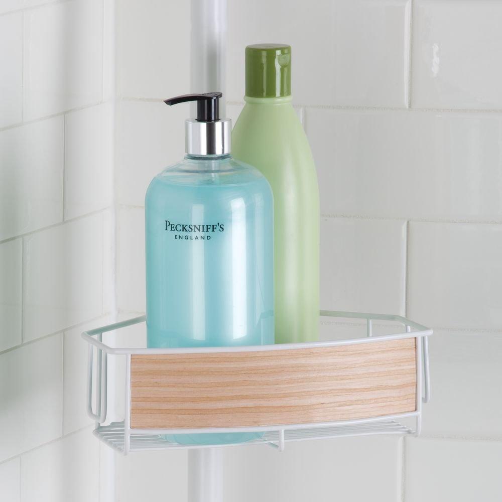 Amazon.com: InterDesign RealWood Constant Tension Shower Caddy ...