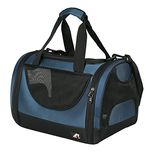 Vaniwear-Outdoor-Portable-Foldable-Carrier-for-Pets-Dog-Cat-Comfort-Airline-Approved-Travel-Tote-Soft-Sided-Bag-Medium-Size-Medium-Navy