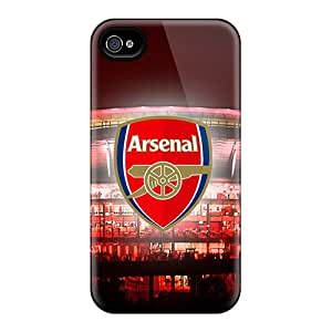 Shockproof Hard Phone Covers For Iphone 4/4s With Provide Private Custom Stylish The Team England Arsenal Pictures JasonPelletier