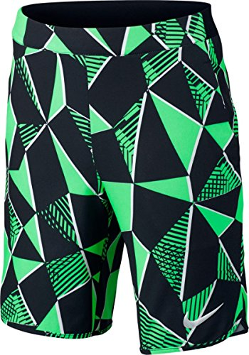 Nike Big Boys' Dri-Fit Flex Ace Tennis Shorts-Green-Large (Short Dri Sport Fit Tennis)