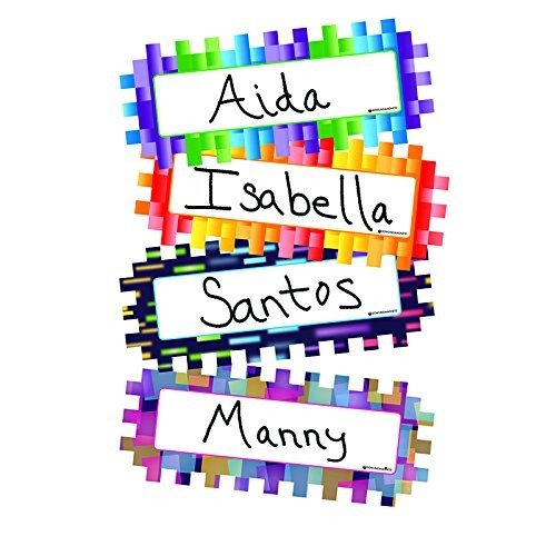 Dowling Magnet 735217 Pixels and Dashes Magnetic Name Plates