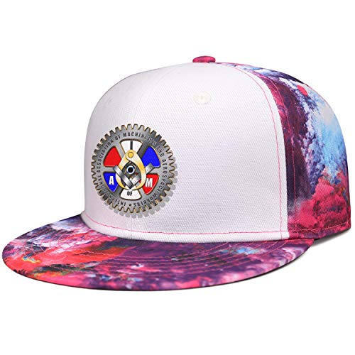 WJINX IAM Local 264 Boston Unisex Novelty Flat Brim Baseball Caps Sun Protection Adjustable Trucker Hat